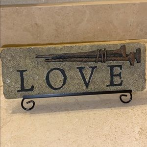 NEW! LOVE Plaque on Stand